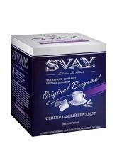 Чай черный Svay Original Bergamot (Оригинальный Бергамонт), упаковка 20 саше по 2 г