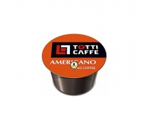 Кофе в капсулах Totti Caffe Americano (Тотти Кафе Американо), упаковка 100 капсул, формат Lavazza BLUE